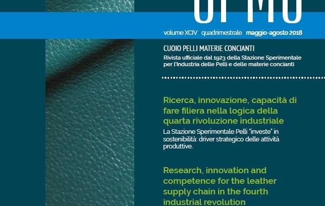 Pubblicato il numero 2/2018 della rivista CPMC – Cuoio Pelli Materie Concianti