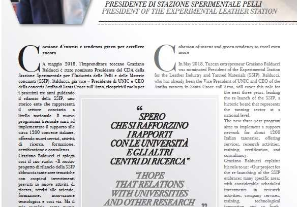 Leather&Luxury International intervista il presidente Balducci