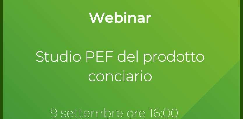 Webinar 9.09.21 – Studio PEF del prodotto conciario – Report
