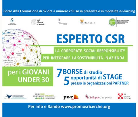 """La SSIP partner del Corso di Alta Formazione in """"Esperto Corporate Social Responsibility"""""""