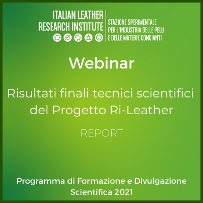 Webinar 24.06.2021 – I risultati scientifici del Progetto Ri-Leather per il Distretto di Arzignano – Report