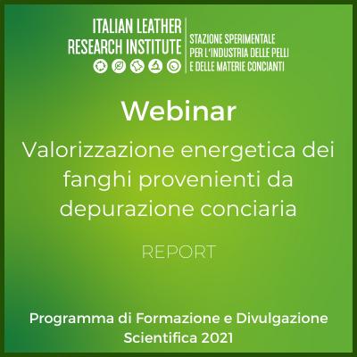 Webinar 8.07.21 – Valorizzazione energetica di fanghi provenienti da depurazione conciaria – Report
